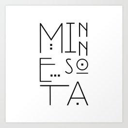 Minnesota Typography Art Print