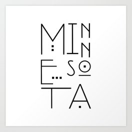 Minnesota Typography Art Print