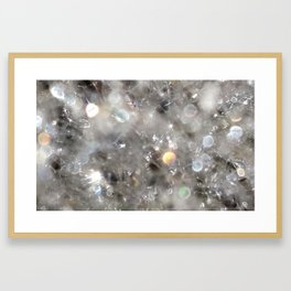 Crystalline connections - Abstract Photography by Fluid Nature Framed Art Print