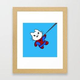Spiderkitty! Framed Art Print