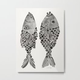 Indonesian Fish Duo – Black Palette Metal Print