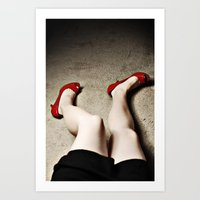 legs Art Prints featuring Legs by Flashbax Twenty Three