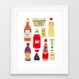 Asian Seasonings Framed Art Print