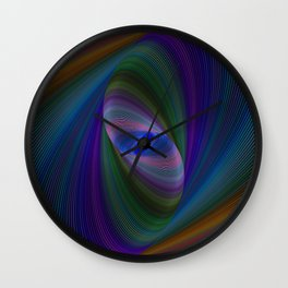 Elliptical fractal Wall Clock