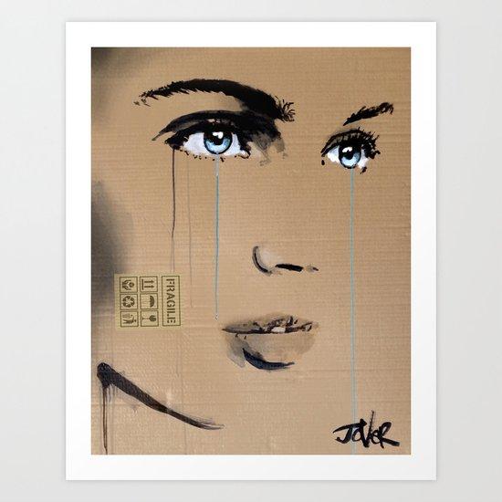 FRAGILE GRAFFITI Art Print