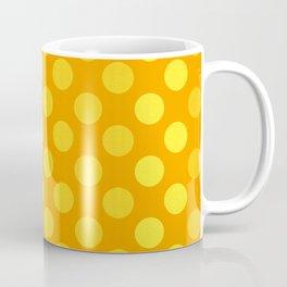 """""""Yellow & Ocher Burlap Texture & Polka Dots"""" Coffee Mug"""