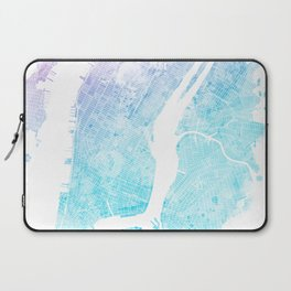 New York City Watercolor Map #5 Laptop Sleeve
