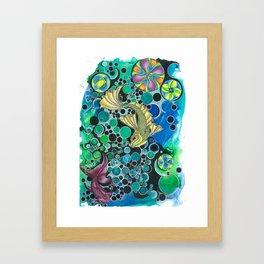 fish abstract Framed Art Print