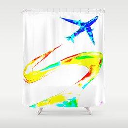 Rainbow Jet Shower Curtain