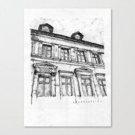 Typewritten Old Cafe Canvas Print