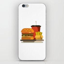 Cheeseburger Meal iPhone Skin