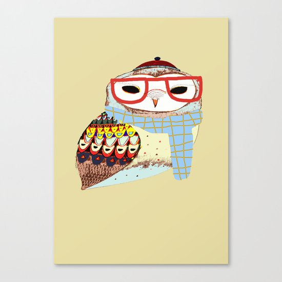 Snug Owl Canvas Print