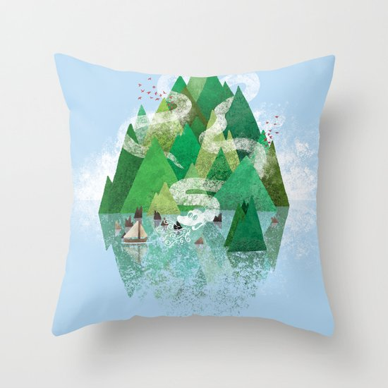 Mysterious Island Throw Pillow