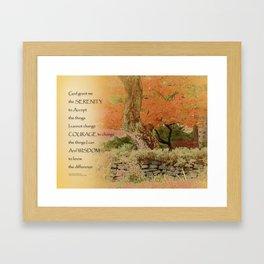 Serenity Prayer Autumn Harmony Framed Art Print