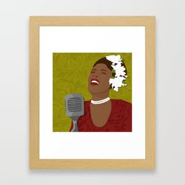 Billie Holiday | Bad Ass Women Series Framed Art Print