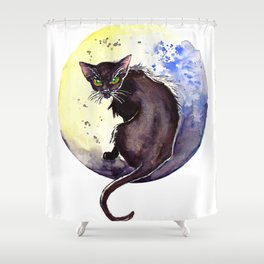 All Hallow's Moon Shower Curtain