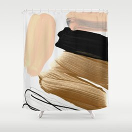 minimalist painting 06 Shower Curtain