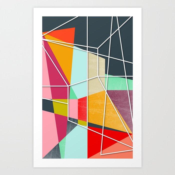 ColorBlock V Art Print