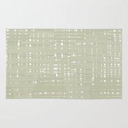 Green straw background Rug