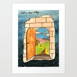 Tell a new story Art Print