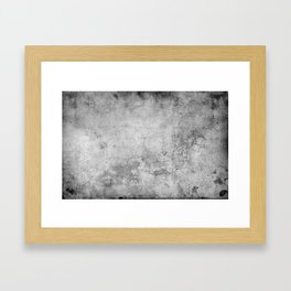 Concrete Cement Framed Art Print