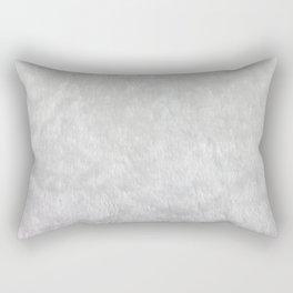White Faux Fur Print Rectangular Pillow