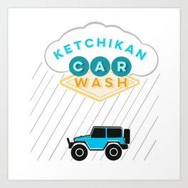 Ketchikan Car Wash Art Print