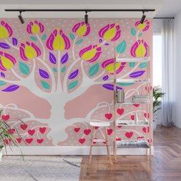 Love Grows Forever - Blush Peach Wall Mural