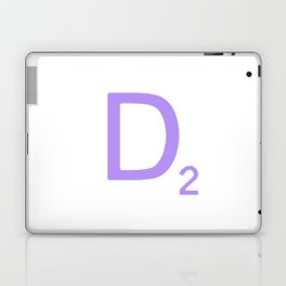 Scrabble Letter D Sign in Mauve Laptop & iPad Skin