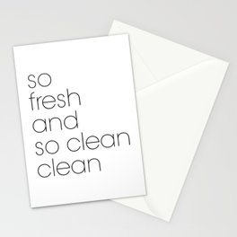 Bathroom Poster So Fresh And So Clean Stationery Cards