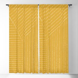 Lines / Yellow Blackout Curtain