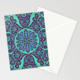 Poppy Pods Mint and Purple Stationery Cards