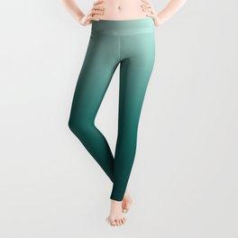Blue green Ocean Gradient Leggings