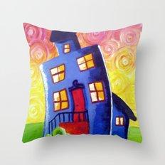 Happy House Throw Pillow