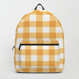 Buffalo Check - yellow gold Backpack