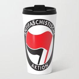 Antifa T-Shirt Antifaschistische Aktion Travel Mug