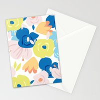 Painterly Blooms Stationery Cards