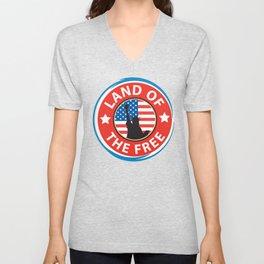 Land of the Free Unisex V-Neck