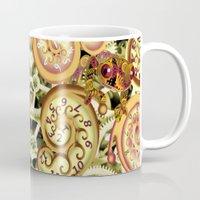 clockwork Mugs featuring Clockwork. by Sylvie Heasman