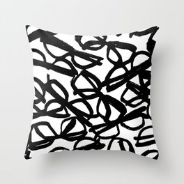Black Eyeglasses Throw Pillow