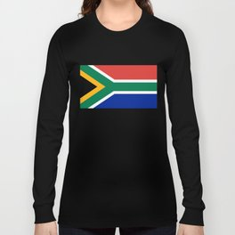 Flag of South Africa, Authentic color & scale Long Sleeve T-shirt