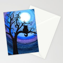 Midnight Cat Stationery Cards