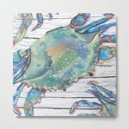 Beautiful Blue Swimmer Metal Print