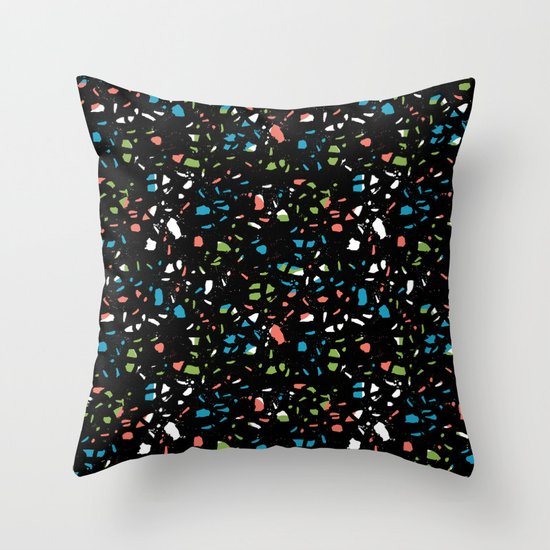 Abstract terrazzo bright colorful pattern design trendy pattern print Throw Pillow by ...