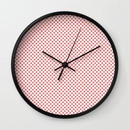 Georgia Peach Polka Dots Wall Clock