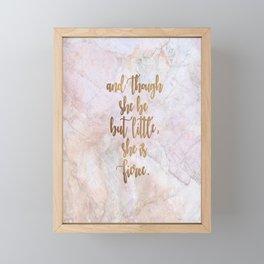 She is Fierce - Marble Framed Mini Art Print