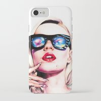 iggy azalea iPhone & iPod Cases featuring Iggy Azalea Portrait by Tiffany Taimoorazy