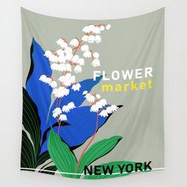 Flower Market New York Wall Tapestry