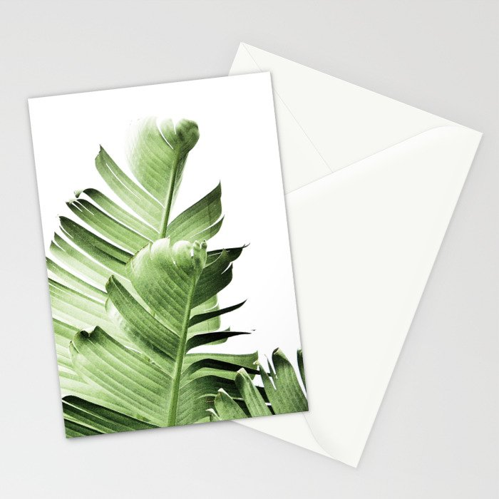 Banana Leaves Leaf Plant Modern Wall Art Tropical Stationery