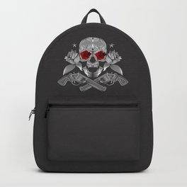 Skull, roses and guns Backpack
